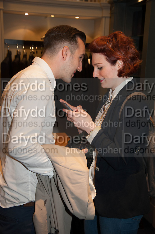 ADAM DE SILVA; SOPHIE LAWES, The Gentleman's Journal Autumn Party, in partnership with Gieves and Hawkes- No. 1 Savile Row London. 3 October 2013