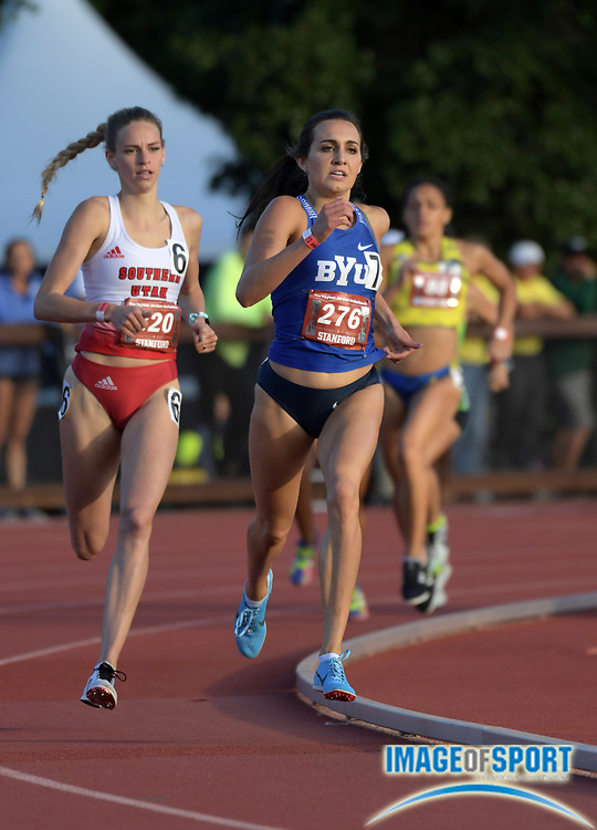 May 2, 2019; Stanford, CA, USA; Whittni Orton (276) of BYU runs in a women's 800m heat during the 24th Payton Jordan Invitational at Cobb Track & Angell Field.