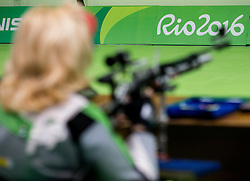 Veselka Pevec of Slovenia during Qualification of R4 - Mixed 10m Air Rifle Standing SH2 on day 3 during the Rio 2016 Summer Paralympics Games on September 10, 2016 in Olympic Shooting Centre, Rio de Janeiro, Brazil. Photo by Vid Ponikvar / Sportida