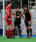 Nick WILSON of the Black Sticks celebrates his gooal with George MUIR of the Black Sticks in the Black Sticks Men v Canada match in Christchurch, Canterbury, 13 December 2014. Photo:John Davidson/www.photosport.co.nz