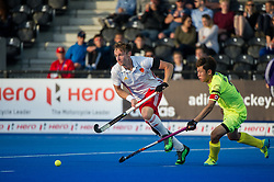 England's David Goodfield. England v China - Hockey World League Semi Final, Lee Valley Hockey and Tennis Centre, London, United Kingdom on 15 June 2017. Photo: Simon Parker