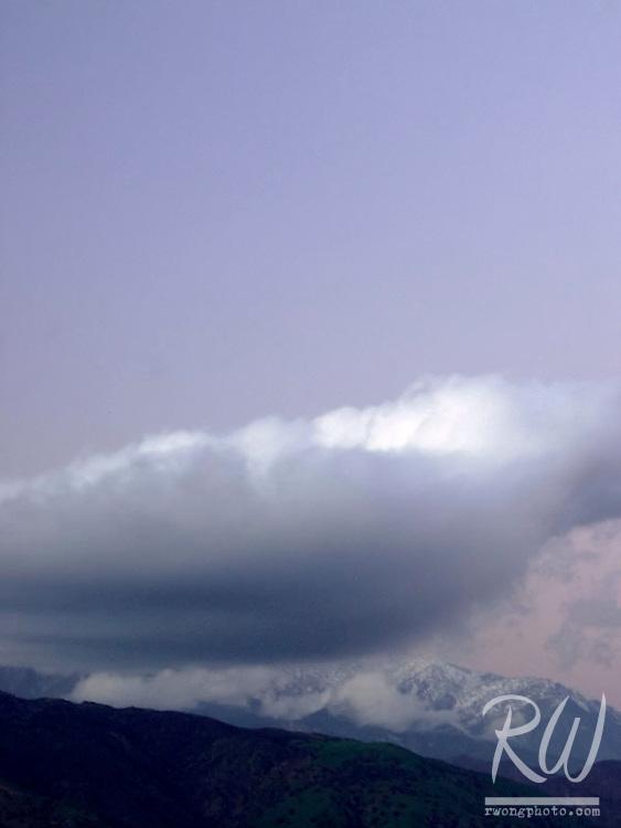 Evening Twilight Clouds over Mount Baldy, Bonelli County Park, San Dimas, California