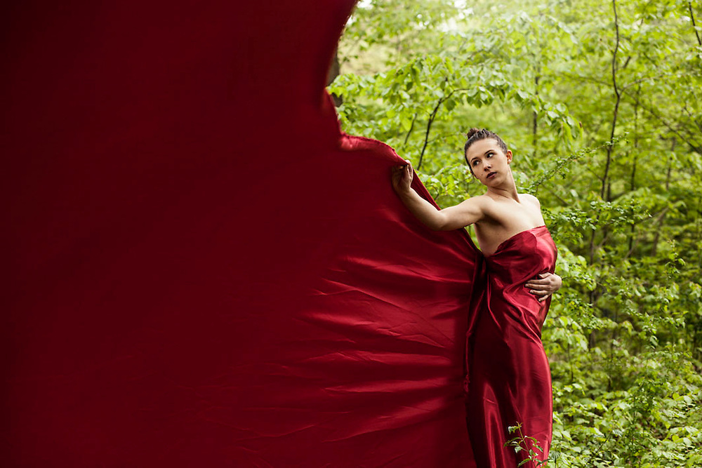 The red dress by Fashion photographer Kpaou Kondodji with Model Tina Owczarzak