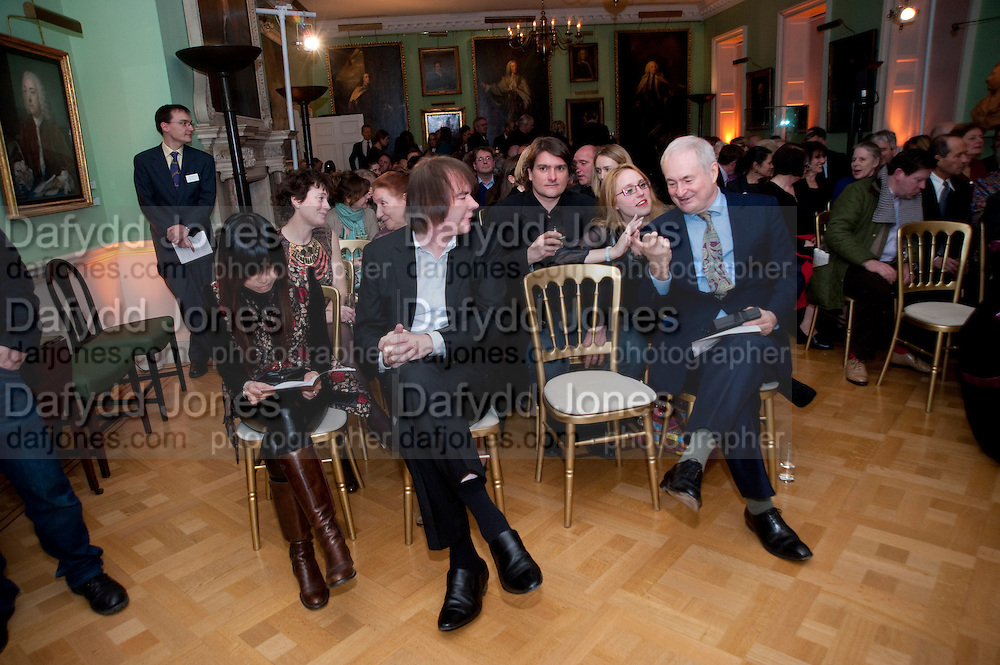 JULIAN LLOYD WEBBER; PAUL GAMBACCINI,  Founding Fellows 2010 Award Ceremony. Foundling Museum on Monday  8 March