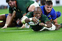 Rugby Union - 2019 Rugby World Cup - Pool B: South Africa vs. italy <br /> <br /> Mbongeni Mbonambi of South Africa scores a try at Shizouka Stadium Ecopa.<br /> <br /> COLORSPORT/LYNNE CAMERON