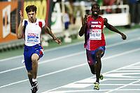 Friidrett, 28. juli  2010 ,<br /> EM Barcelona<br /> <br /> European Athletics Championships<br /> Barcelona<br /> Jaysuma Saidy Ndure , Norge 100 m  og Christophe Lemaitre , FRA vinner<br /> <br /> Foto: Anders Hoven , Digitalsport