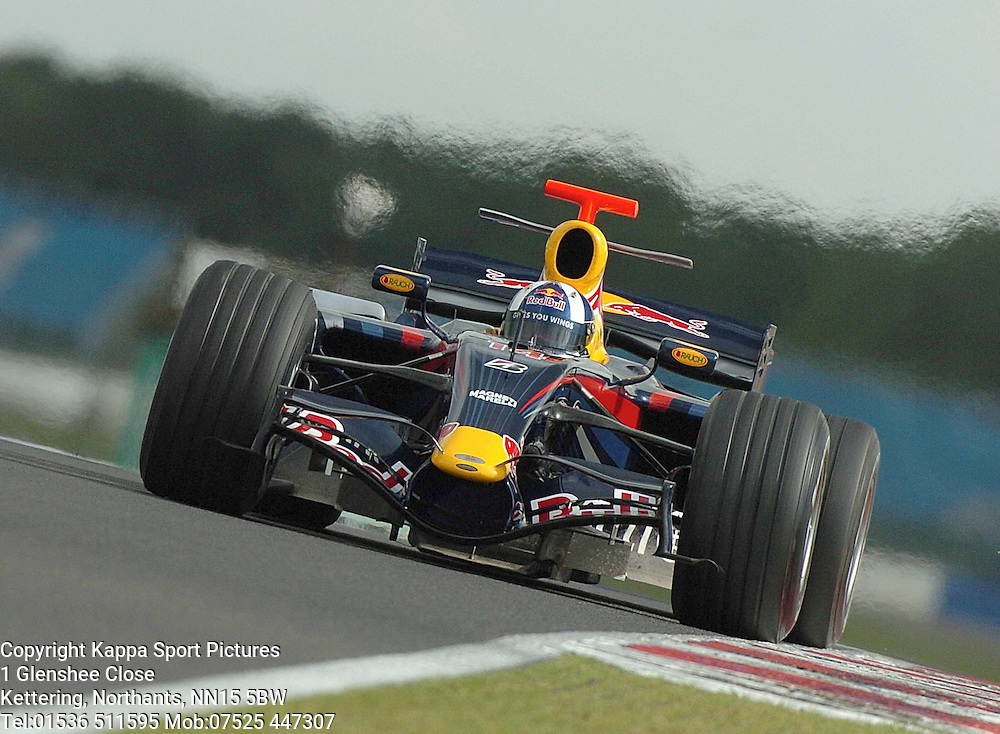DAVID COULTHARD Scotland, Red Bull F1 Formula One Test Silverstone 19th June 2007 :Photo Mike Capps