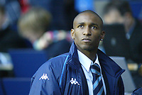 1/1/2005 - FA Barclays Premiership - Tottenham Hotspur v Everton - White Hart Lane<br />Tottenham Hotspur striker Jermain Defoe stands near the tunnel as he sits out the game injured<br />Photo:Jed Leicester/Back Page Images