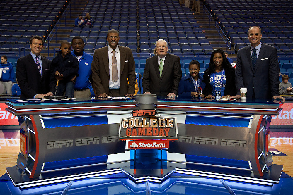 ESPN Gameday taped a broadcast from Rupp Arena before the Missouri vs. Kentucky game, Saturday, Feb. 23, 2013 in Lexington.
