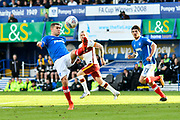 Stuart O'Keefe (7) of Portsmouth clears the ball during the EFL Sky Bet League 1 match between Portsmouth and Bradford City at Fratton Park, Portsmouth, England on 28 October 2017. Photo by Graham Hunt.