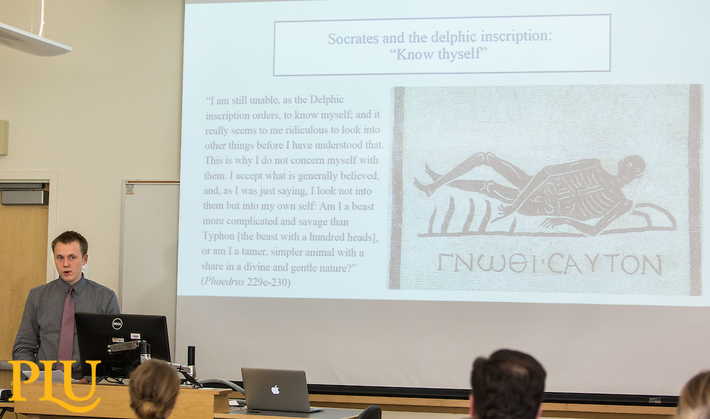 Philosophy Capstone presentation at PLU on Friday, May 20, 2016. (Photo: John Froschauer/PLU)