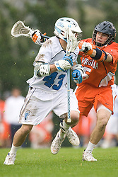05 April 2008: North Carolina Tar Heels midfielder Bobby McAuley (43) during a 11-12 OT loss to the Virginia Cavaliers on Fetzer Field in Chapel Hill, NC.