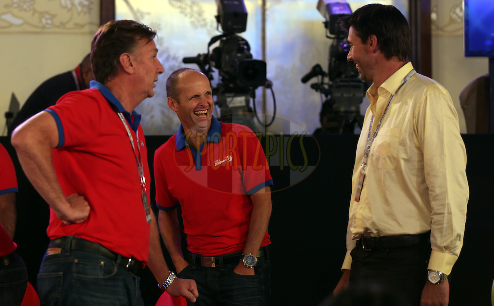Delhi Daredevils team and Chennai super kings team member during the Pepsi IPL Player Auction held at the ITC Gardenia in Bengaluru, India on the 13th February 2014<br /> <br /> Photo by Sandeep Shetty/BCCI/SPORTZPICS