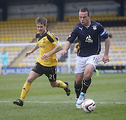 Dundee's Gavin Rae goes past Livingston's Kyle Jacobs - Livingston v Dundee - SPFL Championship at Almondvale <br />  - &copy; David Young - www.davidyoungphoto.co.uk - email: davidyoungphoto@gmail.com