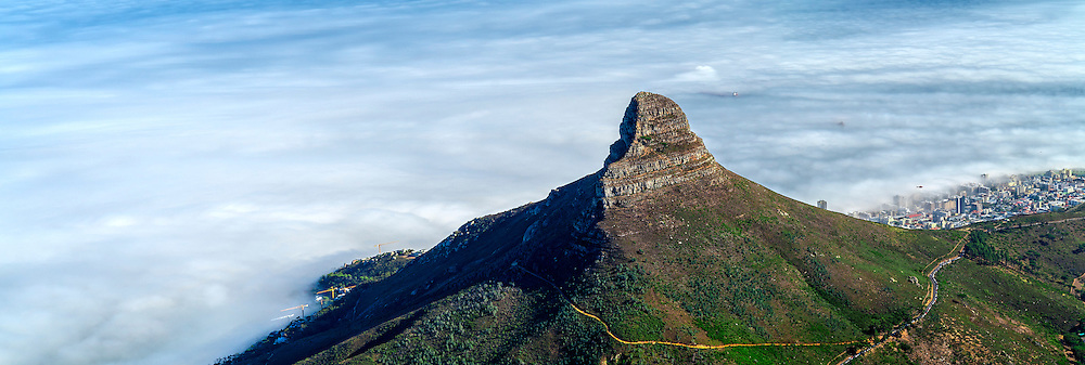 Lion's Head is a mountain in Cape Town, South Africa. The mountain is located between Table Mountain and Signal Hill.