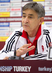 Head coach  of Turkey Bogdan Tanjevic during  the press conference after the eight-final basketball match between National teams of Turkey and France at 2010 FIBA World Championships on September 5, 2010 at the Sinan Erdem Dome in Istanbul, Turkey. (Photo By Vid Ponikvar / Sportida.com)