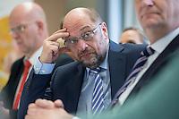 """22 FEB 2017, LUEBBEN/GERMANY:<br /> Martin Schulz, SPD, Kanzlerkandidat, waehrend ein Treffen mit dem Netzwerk """"Gesund Kinder e.V."""", Spreewaldklinik<br /> IMAGE: 20170222-01-068"""