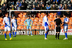 Adam Smith of Bristol Rovers looks on as Craig Robson of Barnet celebrates scoring his sides first goal of the game - Mandatory by-line: Ryan Hiscott/JMP - 11/11/2018 - FOOTBALL - The Hive - Barnet, England - Barnet v Bristol Rovers - Emirates FA Cup first round proper
