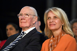 © Licensed to London News Pictures. 18/09/2018. Brighton, UK.  Former party leader MENZIES CAMPBELL (left) attends the final day of the Liberal Democrat Autumn Conference in Brighton, East Sussex on September 18, 2018. This years event has been mainly focused around Brexit, the UK's departure from the EU. Photo credit: Ben Cawthra/LNP