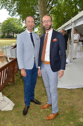 Left to right, HOWARD MUTTI-MEWSE and AUSTIN MUTTI-MEWSE at the Flannels For Heroes cricket competition in association with Dockers held at Burton Court, Chelsea, London on 19th June 2015