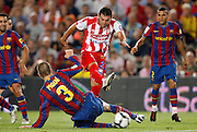 Sporting de Gijon's David Barral during the La Liga match.August 31 2009.