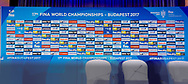Backdrop <br /> FINA Medal Presentation Press Conference<br /> 11/07/2017 <br /> XVII FINA World Championships Aquatics<br /> Duna Arena Budapest Hungary July 15th - 30th 2017 <br /> Photo G.Scala/Deepbluemedia/Insidefoto