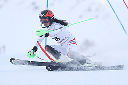 28.01.2018, Lenzerheide, SUI, FIS Weltcup Ski Alpin, Lenzerheide, Slalom, Damen, 1. Lauf, im Bild Stephanie Brunner (AUT) // Stephanie Brunner (AUT) in action during her 1st run of ladie's Slalom of FIS ski alpine world cup in Lenzerheide, Austria on 2018/01/28. EXPA Pictures © 2018, PhotoCredit: EXPA/ Sammy Minkoff<br /> <br /> *****ATTENTION - OUT of GER*****