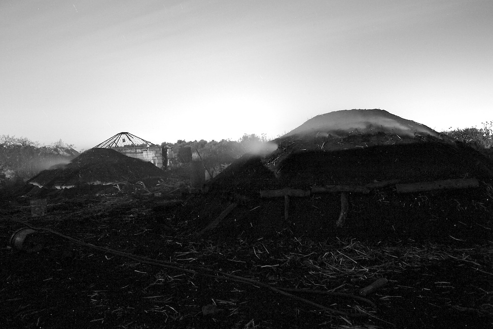 The pile of woods that will become charcoals after they born on low fair for 3 weeks,....Monday April 5, 2008,..