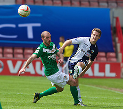 WREXHAM, WALES - Saturday, May 3, 2014: The New Saints' Chris Marriott in action against Aberystwyth Town during the Welsh Cup Final at the Racecourse Ground. (Pic by David Rawcliffe/Propaganda)