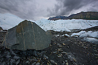 A dark and windy day at Matanuska Glacier just two hours outside of Anchorage