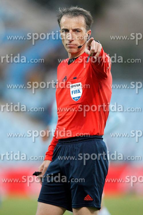 27.02.2016, Estadio Balaidos, Vigo, ESP, Primera Division, Getafe CF vs RC Celta, 26. Runde, im Bild Spanish referee Fernandez Borbalan // during the Spanish Primera Division 26th round match between Getafe CF and RC Celta at the Estadio Balaidos in Vigo, Spain on 2016/02/27. EXPA Pictures &copy; 2016, PhotoCredit: EXPA/ Alterphotos/ Acero<br /> <br /> *****ATTENTION - OUT of ESP, SUI*****