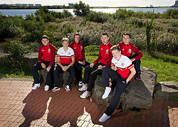 CARDIFF, WALES - Thursday, October 10, 2013: Wales' new faces [l-r] Declan John, Lloyd Isgrove, Danny Alfei, James Wilson, Harry Wilson and Rhoys Wiggins photographed at the St. David's Hotel ahead of the team's 2014 FIFA World Cup Brazil Qualifying Group A match against Macedonia. (Pic by David Rawcliffe/Propaganda)