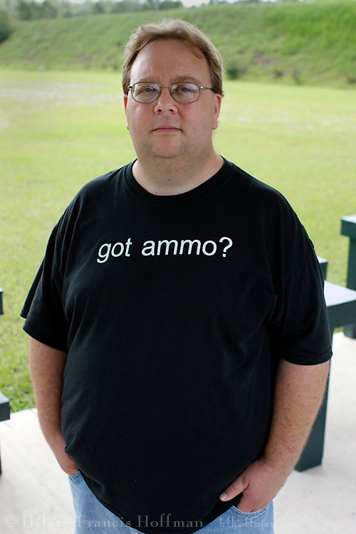 The United States Supreme Court has affirmed the right of Americans to own guns. Many states have &quot;shall-issue&quot; laws where individuals cannot be denied a license to carry a concealed weapon as long as certain limited criteria are met. Florida was one of the first states to adopt this type of law.<br /> <br /> Today more than 55,000 people in Florida have a license to carry a concealed firearm. Some feel that such &quot;right-to-carry&quot; laws create a more dangerous society. Some feel safety is increased, and that instances of crime are reduced. Owing to complexities in reporting, it is difficult to determine the actual overall effect on safety, and crime, of legally concealed weapons. This series of portraits explores some of the license holders willing to be photographed while carrying a weapon.