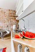 Warsaw Powisle, modern apartment in old tenement from 1904 , interior photography by Piotr Gesicki