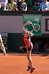 Timea Bacsinsky. Jelena Ostapenko Vs Timea Bacsinsky. Jelena Ostapenko win 1/2 final during French Tennis Open at Roland-Garros arena on June 08, 2017 in Paris, France. Photo by Nasser Berzane/ABACAPRESS.COM
