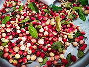 07 NOVEMBER 2017 - BANGKOK, THAILAND: Berries for sale at a local market on Ekkamai Soi 30 in Bangkok.      PHOTO BY JACK KURTZ