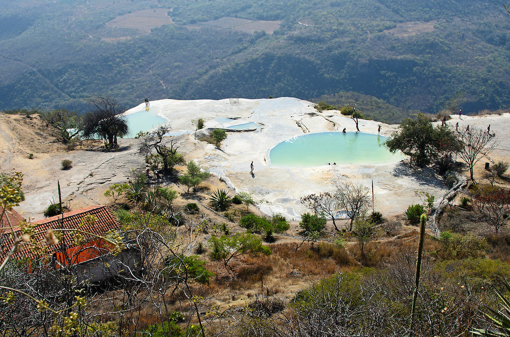 Mineral springs fill the pools at Hierve el Agua, Oaxaca.