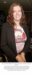 Writer JANE OWEN at a party in London on 3rd April 2001.OMT 9