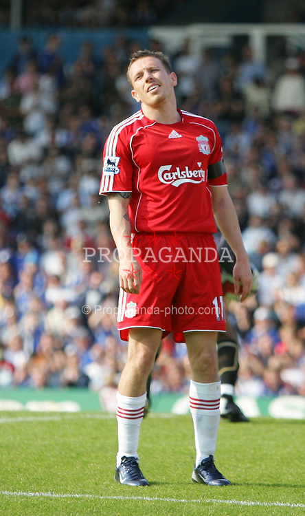 Portsmouth, England: Saturday, April 28, 2007: Liverpool's Craig Bellamy dejected against Portsmouth during the Premiership match at Fratton Park (Pic by Chris Ratcliffe/Propaganda)