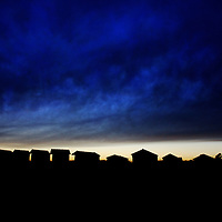 Beach huts at Walberswick, Suffolk, England