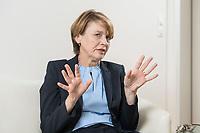 03 SEP 2018, BERLIN/GERMANY:<br /> Elke Buedenbender, Juristin und Gattin des Bundespraesidenten, wahrend einem Interview, in Ihrem Buero, Schloss Bellevue<br /> IMAGE: 20180903-01-024<br /> KEYWORDS: Elke Büdenbender, First Lady