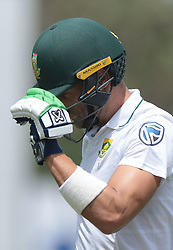 July 13, 2018 - Galle, Sri Lanka - South African cricket captain Faf Du Plessis walks off after his dismissal during the 3rd day's play in the first Test cricket match between Sri Lanka and South Africa at Galle International cricket stadium, Galle, Sri Lanka on Saturday 14 July 2018. (Credit Image: © Tharaka Basnayaka/NurPhoto via ZUMA Press)