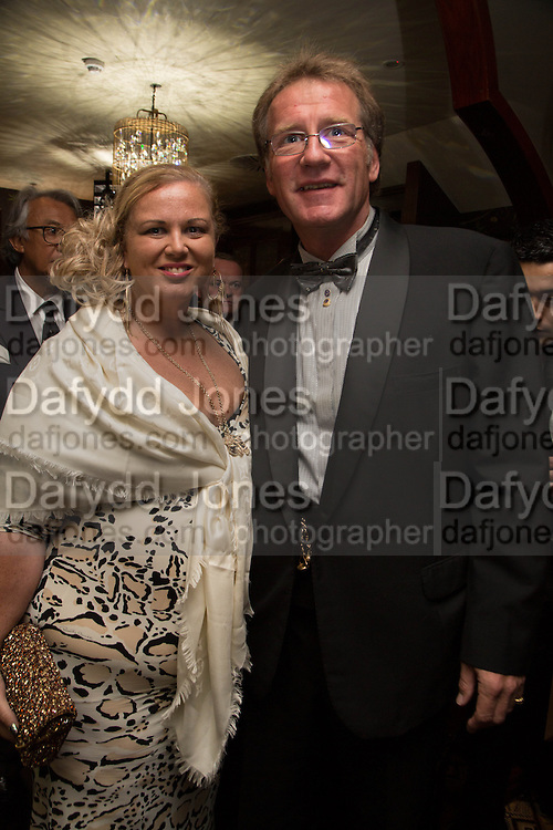 TANIA FOSEY; JOHN HARDING, Dinner in aid of the China Tiger Revival hosted by Sir David Tang and Stephen Fry  at China Tang, Park Lane, London. 1 October 2013. ,