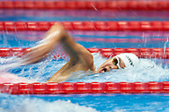 Ashgabat, Turkmenistan - 2017 September 24: Donghyeok Jang from South Korea competes in Men's 200m Freestyle Heat 3 Short Course Swimming competition during 2017 Ashgabat 5th Asian Indoor & Martial Arts Games at Aquatics Centre (AQC) at Ashgabat Olympic Complex on September 24, 2017 in Ashgabat, Turkmenistan.<br /> <br /> Photo by © Adam Nurkiewicz / Laurel Photo Services