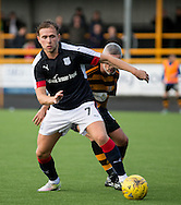 Dundee&rsquo;s Greg Stewart shields the ball from Alloa Athletic&rsquo;s Jim Goodwin  - Alloa Athletic v Dundee, pre-season friendly at Recreation Park, Alloa<br /> <br />  - &copy; David Young - www.davidyoungphoto.co.uk - email: davidyoungphoto@gmail.com