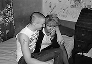 Kelly and Gavin in the Bedroom, Hawthorne Rd, High Wycombe, UK, 1980s.