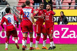 11-03-2018 NED: FC Utrecht - Vitesse, Utrecht<br /> Utrecht verslaat met 5-1 Vitesse / Zakaria Labyad #10 of FC Utrecht scoort de 2-0, Gyrano Kerk #7 of FC Utrecht