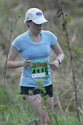 """(Kingston, Ontario---16/05/09) """"Anne Myers finished 4 in the women's 10-12 km Enduro Race at the 2009 Salomon 5 Peaks Trail Running series Race held in Kingston, Ontario as part of the Eastern Ontario/Quebec division.""""  Copyright photograph Sean Burges/Mundo Sport Images, 2009. www.mundosportimages.com / www.msievents.com."""