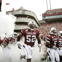 South Carolina's Jasper Brinkley and teammates enter the field before their game against Louisiana-Lafayette in Columbia, S.C. on Saturday, Sept. 1, 2007. (Travis Bell/Sideline Carolina)