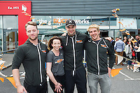 13/09/2015  Niall Breslin, Bessie,  at the official opening of Hector's the body works  a gym in Galway city with the trainers Damien Walsh, Jessica Keniston and Bernard Carberry. Photo:Andrew Downes, xposure<br /> <br /> The Body Works Galway is Galway&rsquo;s newest fitness studio. We are located adjacent to Parkmore in Briarhill Business park about a seven minute walk from the Parkmore Industrial Estate and Briarhill Shopping Centre.<br /> <br /> The fitness studio consists of a spinning studio at ground floor and a fitness studio at first floor where we provide classes in Kettlebells, Pilates, Yoga,TRX, Body Pump and Circuits . We have 16 spinning bikes (cardio machines) in our spinning studio.